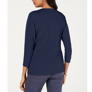 Charter Club Tops - CHARTER CLUB Knit Crossover Top